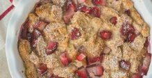 Brood-pudding -aardbeien