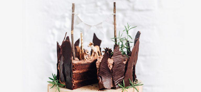 Woodland (vegan) chocolate cake