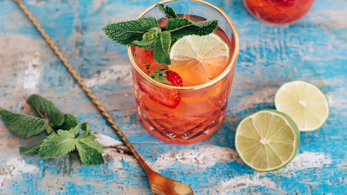 alcoholvrije-strawberry-mojito